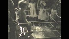 Vintage 16mm film, 1935, people, baby parade #5 Stock Footage