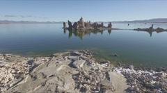 Mono Lake Tufas at sunrise Stock Footage