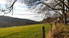 4k Highland nature reserve landscape Elm in Germany Stock Footage
