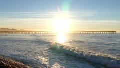 Ventura Pier Sunrise in Southern California Stock Footage