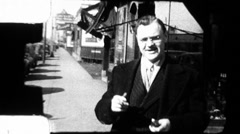 A Man Walks into a Bar Chicago WW2 Era 1960s Vintage Film Home Movie 8925 Stock Footage