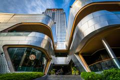 Modern buildings at Siam, in Bangkok, Thailand. Stock Photos