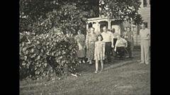 Vintage 16mm film, 1935, people, people parade #1 Stock Footage