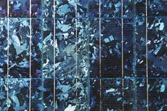 close up on solar panel texture - stock photo