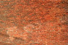 grunge brick wall background - stock photo