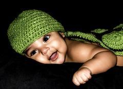 Smiling Latino Baby - stock photo