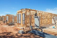 Stock Photo of New homes construction