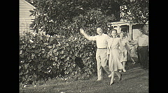 Vintage 16mm film, 1935, people, people parade #2 Stock Footage