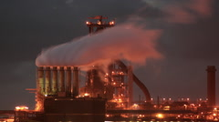 Epic Steelworks Timelapse Stock Footage