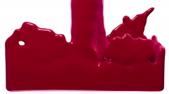 purple paint fills up screen, isolated on white FULL HD with alpha matte - stock footage