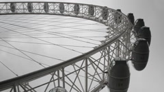 London Eye Ferris Wheel Stock Footage