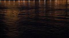 Lights on Night Water River Thames - stock footage