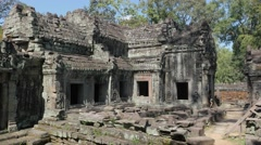 Stock Video Footage of Preah Khan Temple at Angkor Wat complex,Siem Reap,Cambodia