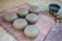 Pottery making - stock photo