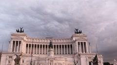 Monument to Vittorio Emanuele II, Time Lapse, Rome, Italy Stock Footage