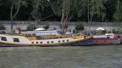 Riverboats on the Seine Stock Footage