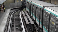 Paris Metro at Bastille Station Stock Footage