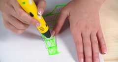 Plastic Drawing Stock Footage