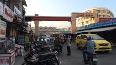 Cho Dam main city market in Nha Trang in Vietnam Stock Footage