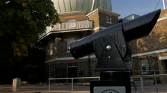 Tilt from telescope to Royal Observatory Stock Footage