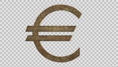 Euro Symbol Rotating Stock Footage