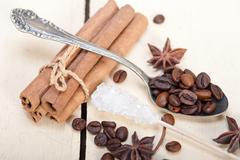 coffe sugar and spice - stock photo