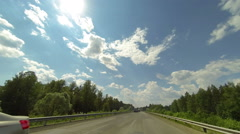 Clouds over the road. The path from Yoshkar-Ola - Kuyar village, Stock Footage