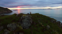 Romantic midnight sun in Norway, Vesteralen Stock Footage