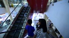 Maximark mall interrior in Nha Trang Stock Footage