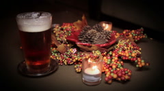 Fall Holiday Beer Zoom Stock Footage