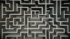 Clean Maze Flyover Stock Footage