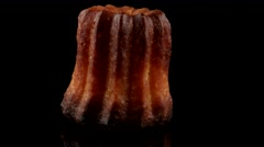Canele, French pastry with caramelized crust - stock footage