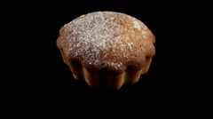 Dessert muffin pastry for coffee break Stock Footage