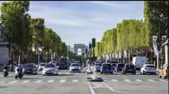 Timelapse view of the Avenue des Champs-Elysees Stock Footage