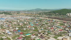 Russia. Sochi - 2013: V HD Aerial view of the residential area. Stock Footage