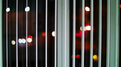 Night city street and cars lights without focus. - stock footage
