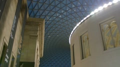The great court and the library at the British Museum Stock Footage