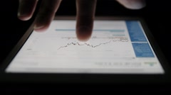 Ungraded: Stock Market Candle Chart on Tablet Computer Stock Footage