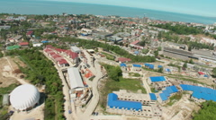Russia. Sochi - 2013: V HD Aerial view of the residential area. - stock footage