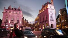 Piccadily Circus amazing pan, Central London, England, Europe Stock Footage