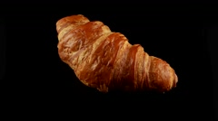 Fresh classic croissant Stock Footage