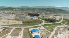 Russia. Sochi - 2013: V HD Aerial view of the stadium. Stock Footage
