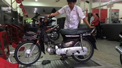 The Honda moto service in Vung Tau city in southern Vietnam Stock Footage