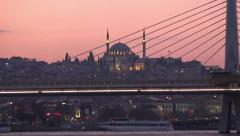 Yavuz Selim Mosque at unset in Istanbul Turkey Stock Footage