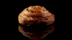 Pastry swirl with cinnamon Stock Footage