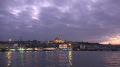 Suleymaniye Mosque at sunset in Istanbul, Turkey (Editorial) Stock Footage