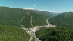 Russia. Sochi - 2013: V HD Aerial view of the beautiful landscape. - stock footage