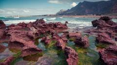 Sunny summer morning on the west Sicilian coast. Stock Footage