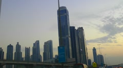 Downtown Dubai Skyscrapers Stock Footage