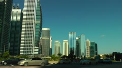 Jumeirah Lake Towers Traffic Stock Footage